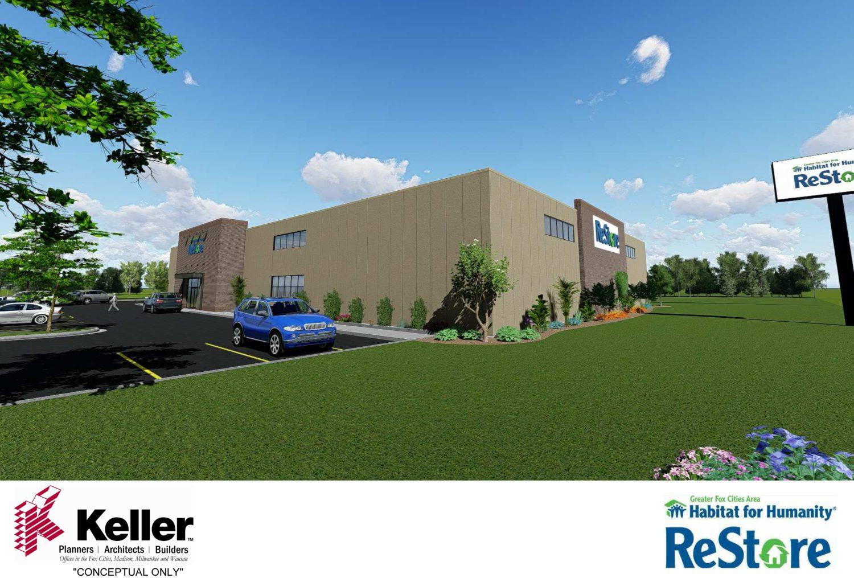 habitat restore to break ground on new facility 4 27 keller builds. Black Bedroom Furniture Sets. Home Design Ideas